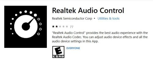 Putting Realtek Audio Console to Work.Storehome