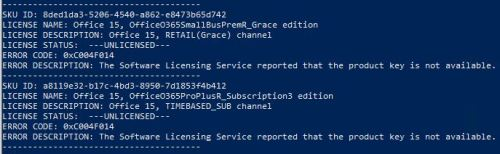 Grooming MS Office 365 Licenses & Activations.nokey
