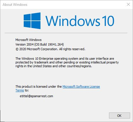 Windows 10 May 2020 Update Now Out.winver2004.info
