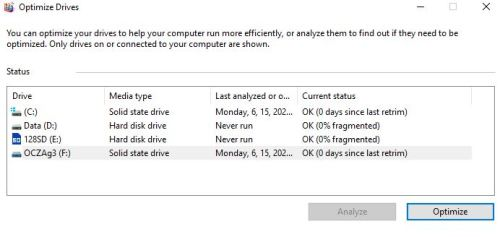 2004 Upgrade Resets Drive Optimization.dates-do-appear