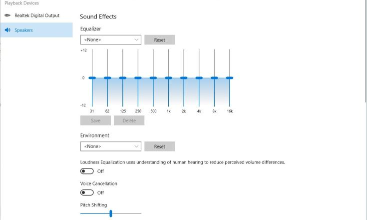 The Realtek Audio Control works only with UAD drivers