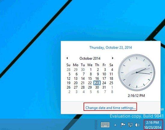 Ngày giờ sai chính là nguyên nhân dẫn tới tình trạng Windows Store từ chối dịch vụ