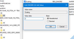 Cách chỉnh full màn hình khi chơi game trên windows 10 bằng Regedit