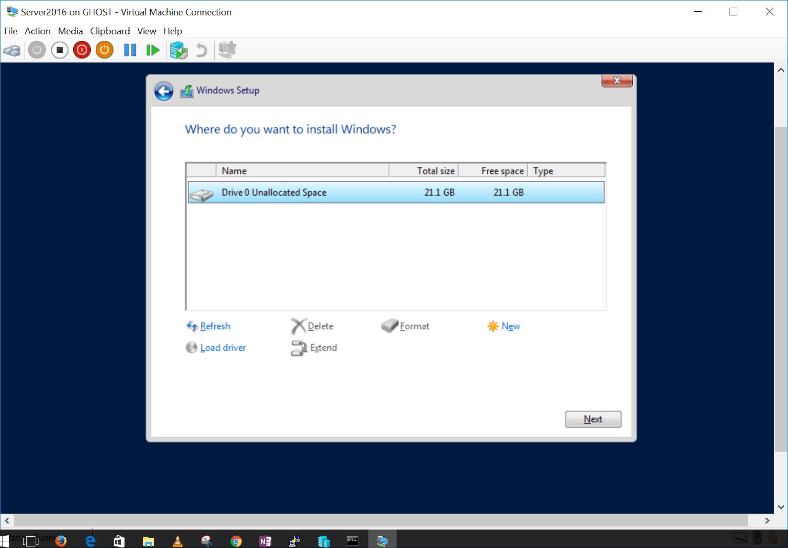 install 6 microsoft windows server 2016 standard evaluation