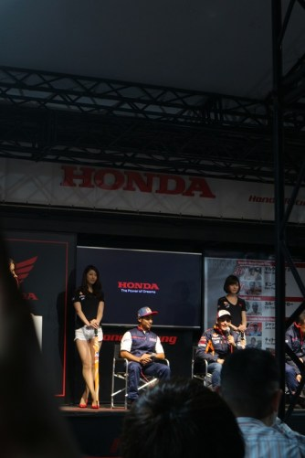 A glimpse of Marc Marquez and Hiroshi Aoyama