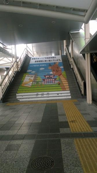 Sambutan di Stasiun Nara