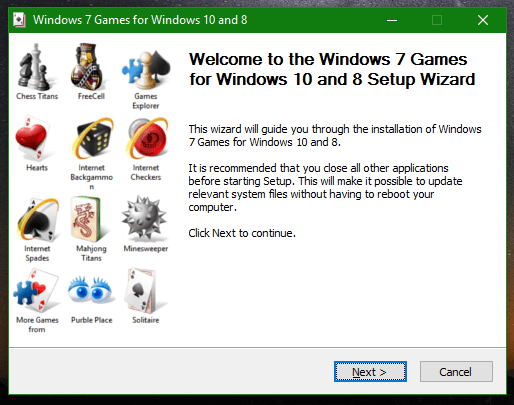Windows 7 Games for Windows 10 anniversary update