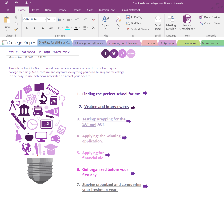 Template Onenote  microsoft onenote offers up a chance to win a