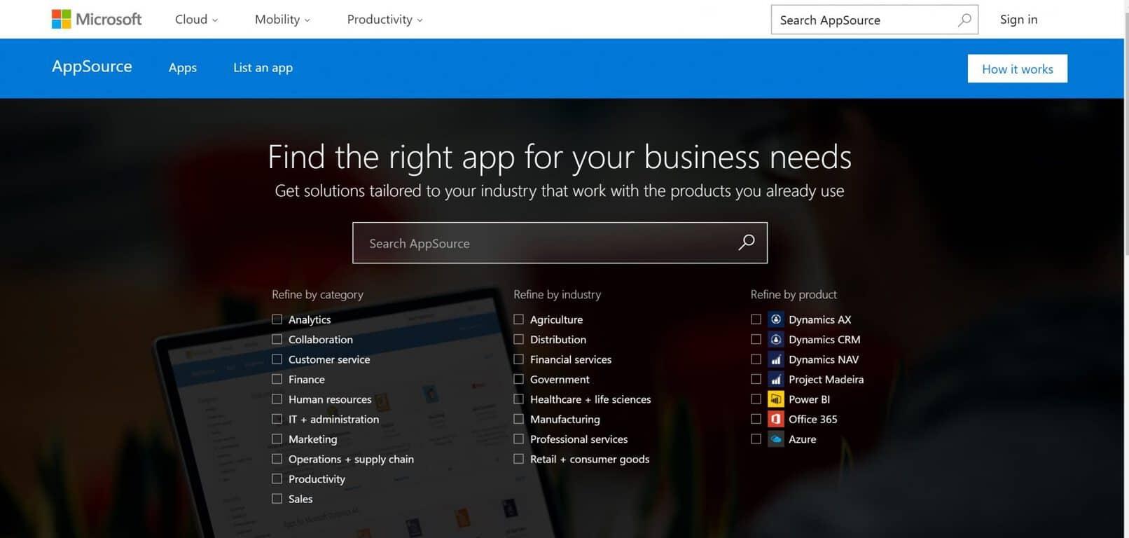 Microsoft, AppSource