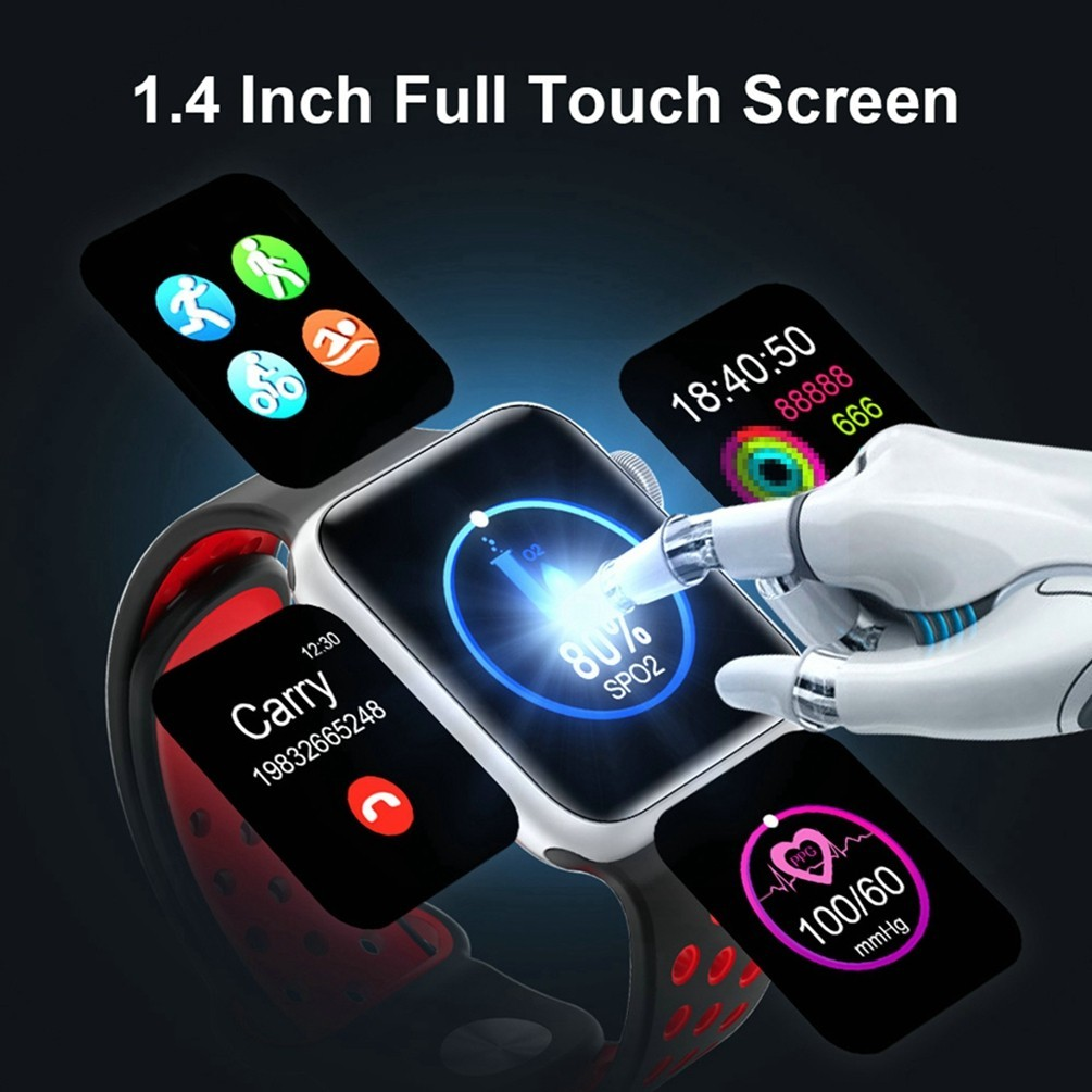 LEMFO 1.4inch Full Touch Screen Smart Watch Men For Apple Watch Android IOS Heart Rate Blood Pressure Monitor Smartwatch Men