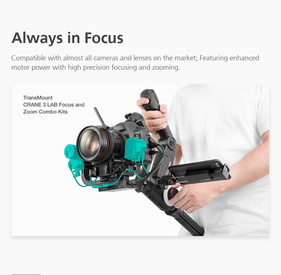 ZHIYUN Official Crane 3 Lab 3-Axis Handheld Stabilizer Wireless 1080P Image Transmission Zoom&Focus Control DSLR Camera Gimbal