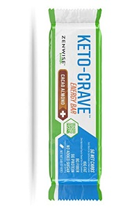 Zenwise Health Keto Crave Energy Bar Cacao Almond