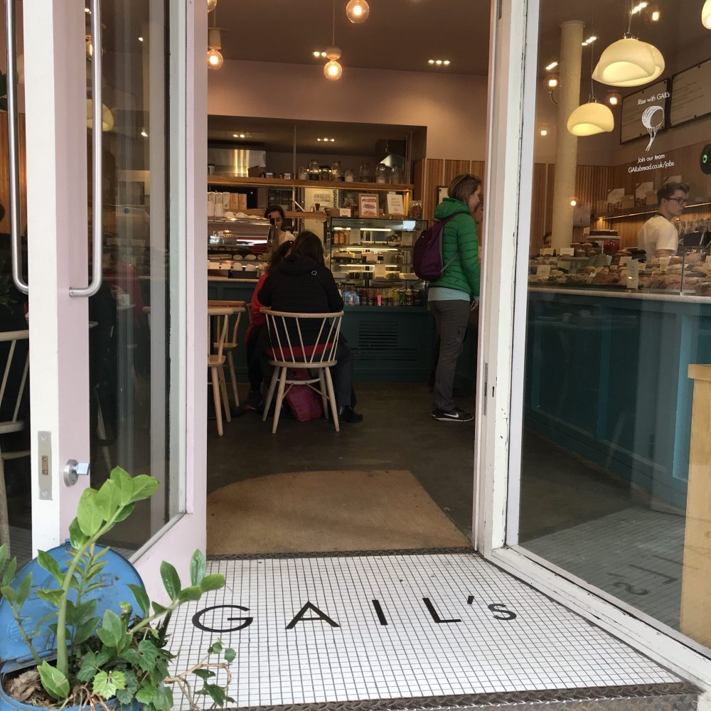 Entrance to Gail's Bakery, St Albans City