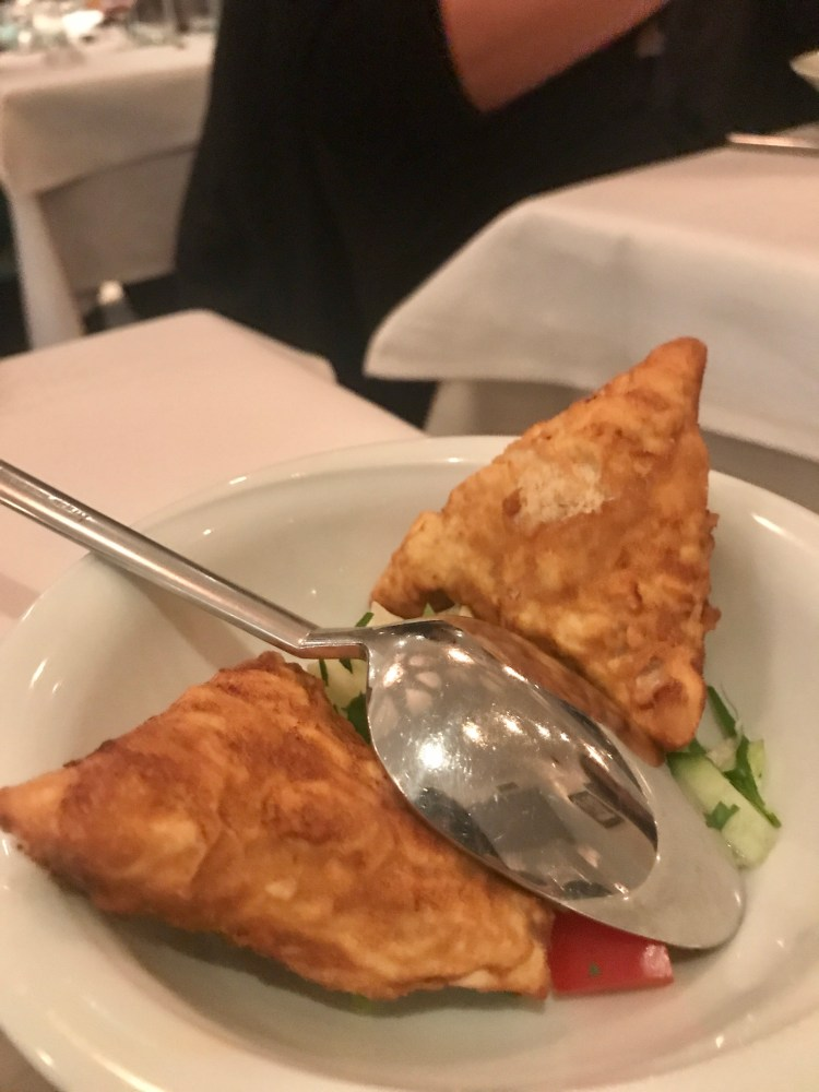 Börek – Filo pastry filled with feta cheese and spinach.