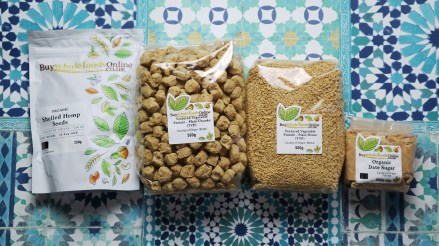 Buy Whole Foods Online products lay flat on the ground