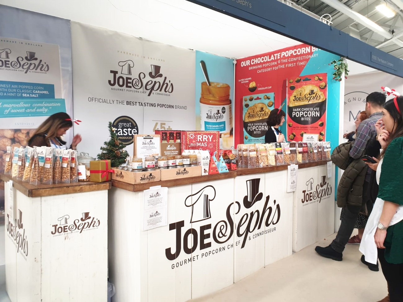 A front view of Joe&Seph's stand