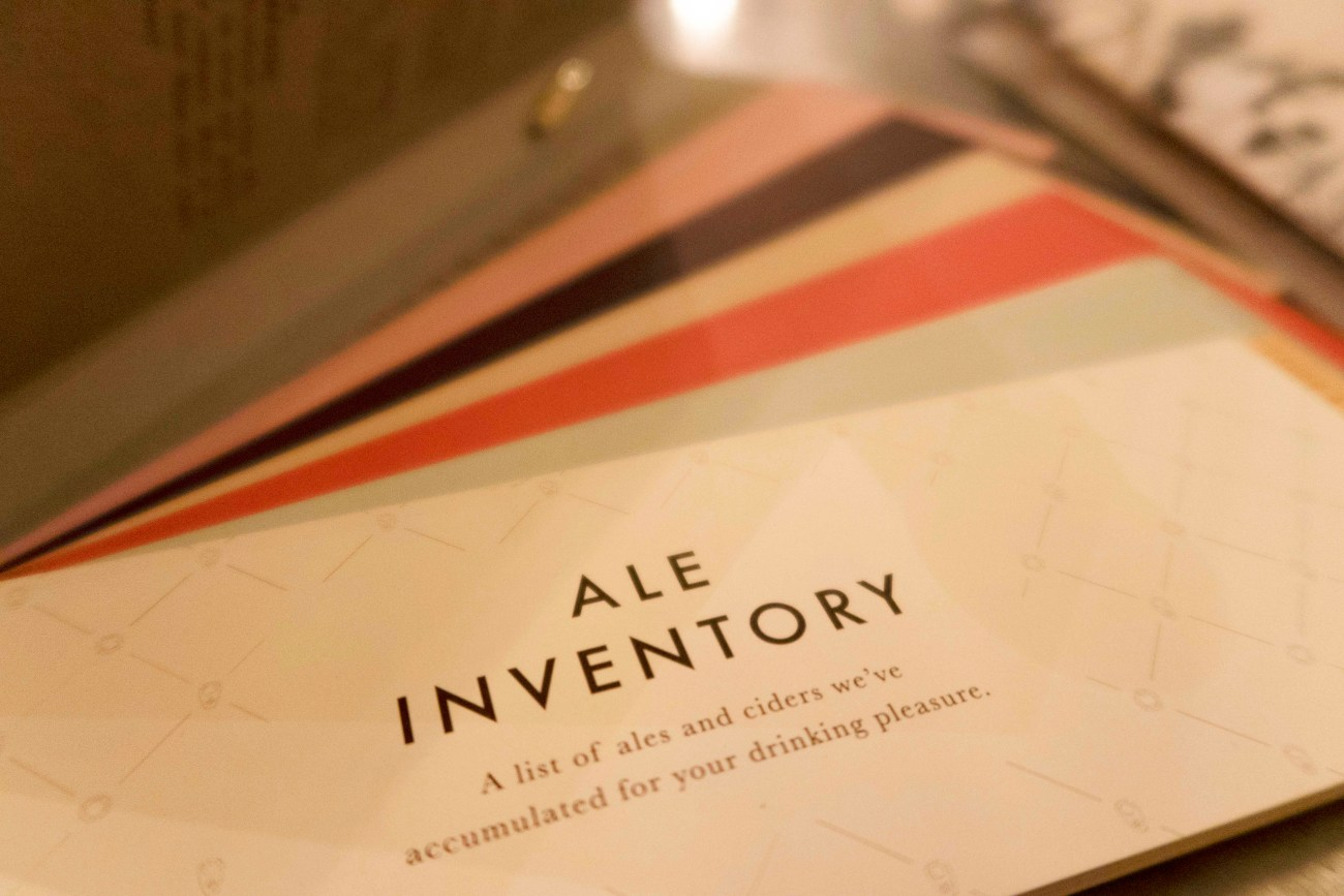 A booklet full off ales