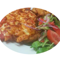 Chicken Parmigiana with Vegetables and Mash