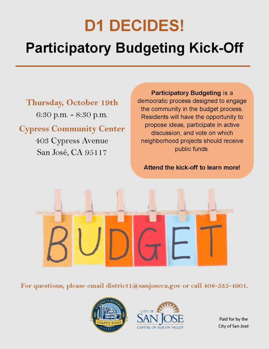 The WNAC meeting will be held prior to the D1 Participatory Budget meeting.