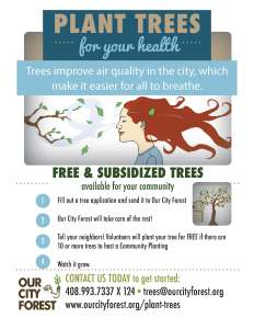 Our City Forest planting flyer_GHG