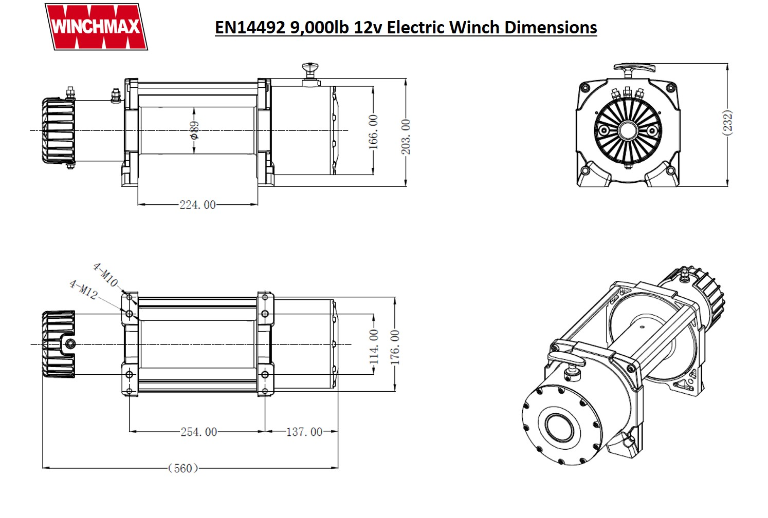 Electric Winch 12v Recovery 4x4 3 5 Ton En Winchmax
