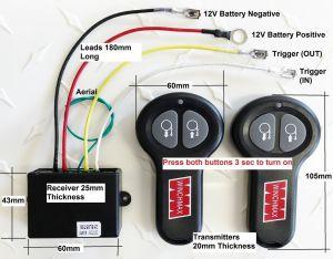 WIRELESS WINCH REMOTE CONTROL TWIN HANDSET WINCHMAX BRAND 12V 12 VOLT | eBay