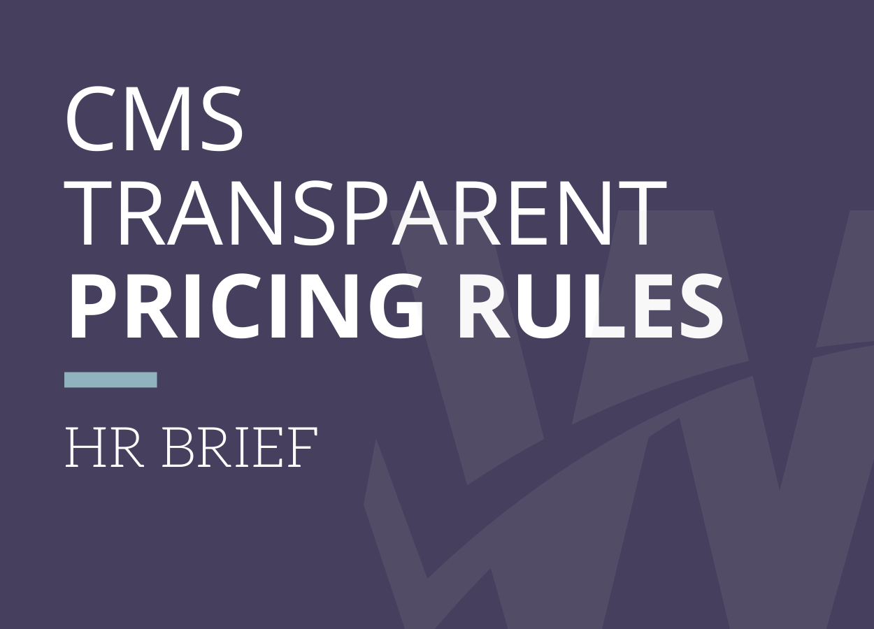 CMS Transparent Pricing Rules Are In Effect