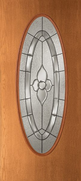 Oak Grain Full Oval with Dynasty glass