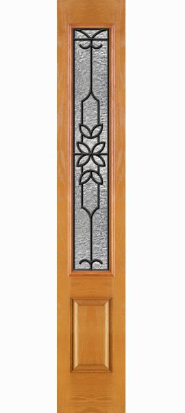 Oak Grain 3/4 Lite Sidelite with Mediterranean glass