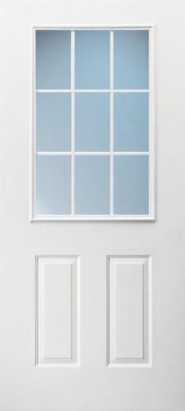 2 Panel 1/2 Lite 9L Colonial