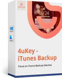 Tenorshare 4ukey iTunes backup crack 2,1.5 latest 2021