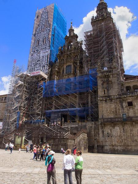 Santiago di Compostela: der Dom von außen