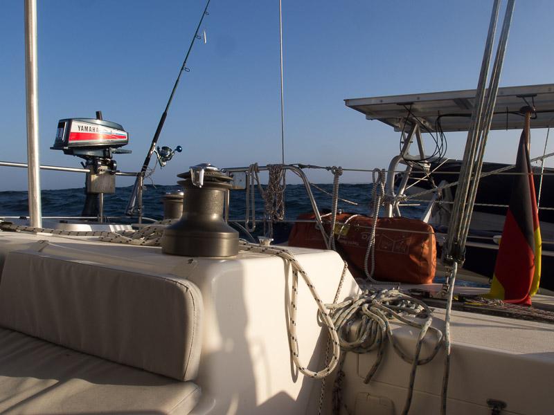 Fast ein Traum: Lesmona mit achterlichem Wind im Atlantik