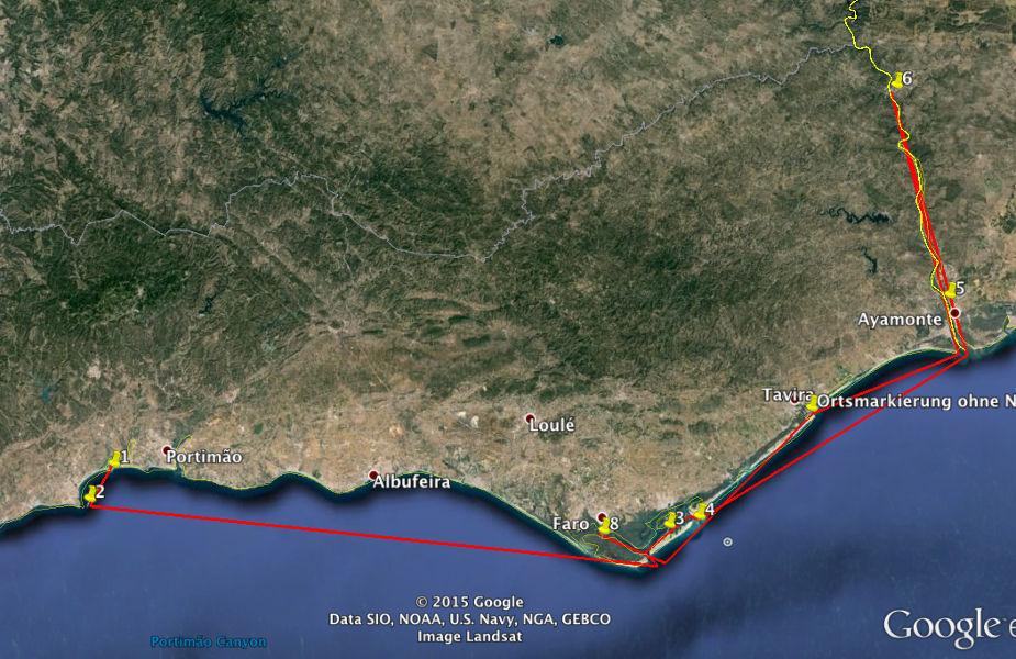 Algarve Dream Tour: Google Earth