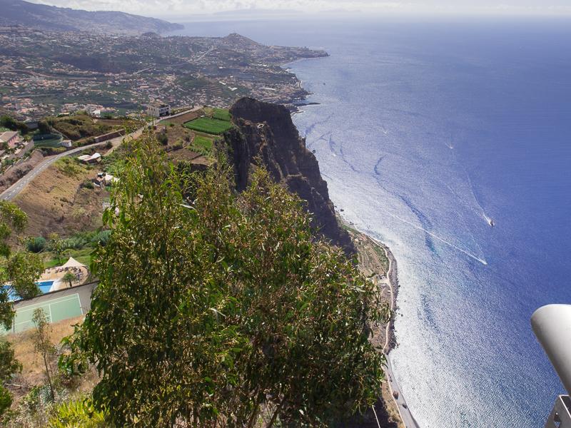 Cabo Girao, Blick nach Osten