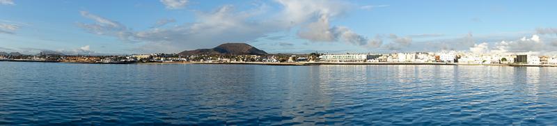 Blick auf den Strand von Coralejo