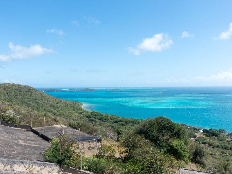 Mayreau Tobago Cays: Ausblick von der Kirche aus