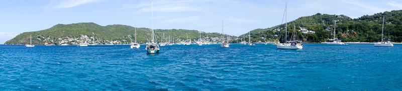 Bequia: die Bucht im Panorama
