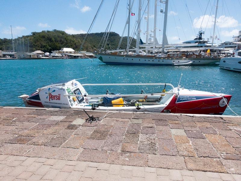 Kuriositäten auf Antigua: Paddelboote für die Atlantiküberquerung