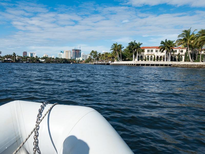 Mit dem Dinghy nach Fort Lauderdale