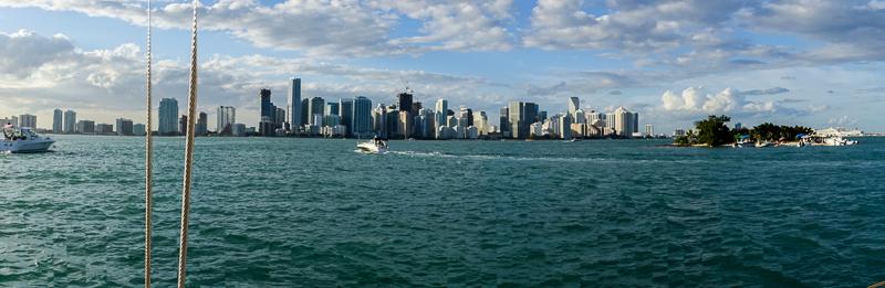 Die Skyline von Miami: ziemlich beeindruckende Aussicht