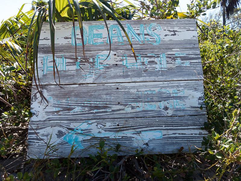 Long Island: Ausschilderung für Dean's Hole