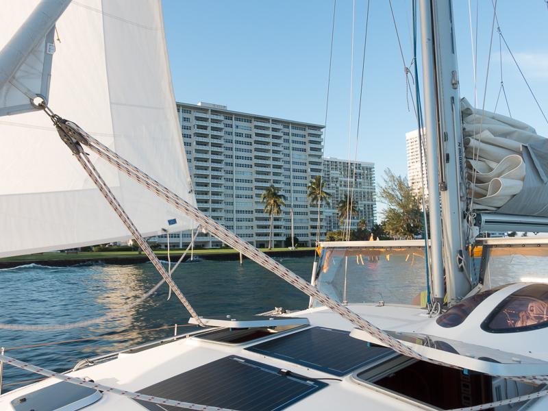Fort Lauderdale unter Segeln