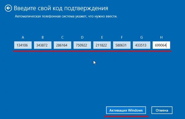 Παράθυρο επιβεβαίωσης ενεργοποίησης των Windows