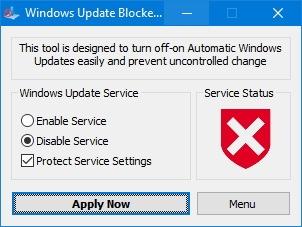 Windows жаңарту блокаторының қосымшасы