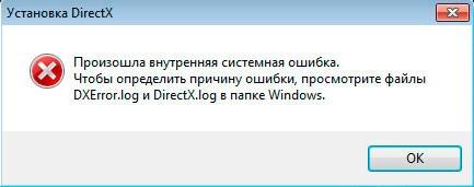Intern System Error DirectX