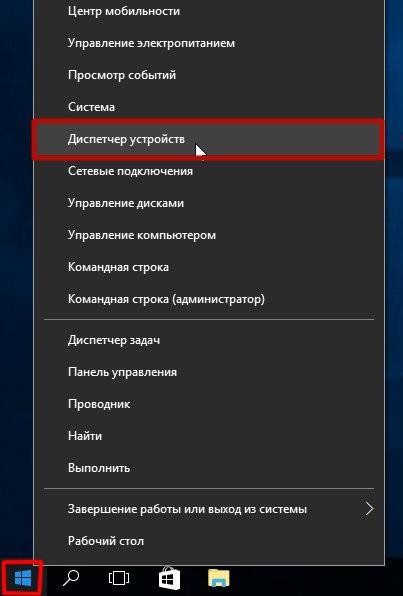 """Kjører """"Enhetsbehandling"""" Windows 10 gjennom Start-menyen"""