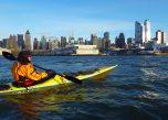 We paddle past Midtown Manhattan