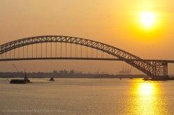 We approach the Bayonne Bridge