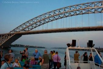 We pass under the Bayonne Bridge